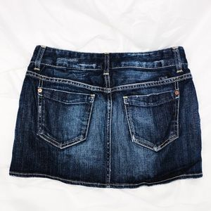 Gap jeans 1969 mini skirt size 1 blue denim